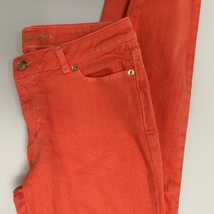 Michael Kors skinny jeans. Burnt orange color.
